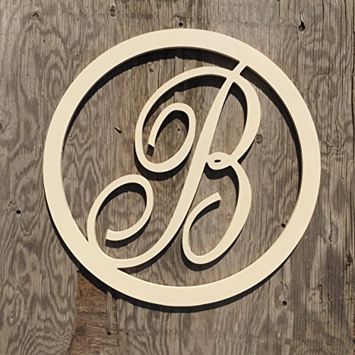 Sale 12 36 Inch Circle Script Wooden Monogram Letters Vine Room Decor Nursery Decor Wooden Monogram Wall Art Large Wood Monogram Wall Hanging Wood