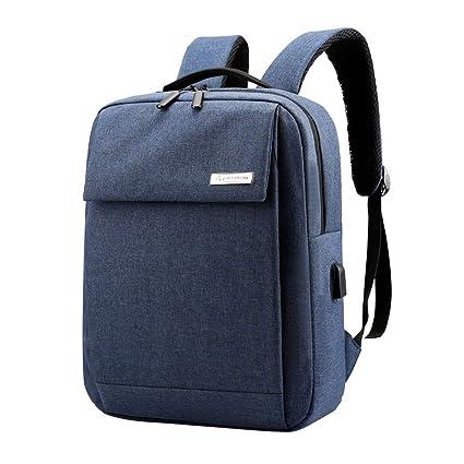 FBGood Einfarbig Geschäft Rucksack mit USB Schnittstelle