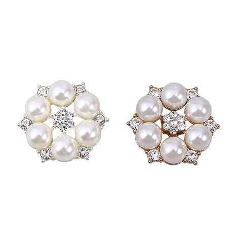 SUPVOX - 20 Perlas de estrás para decoración de Fiesta de ...