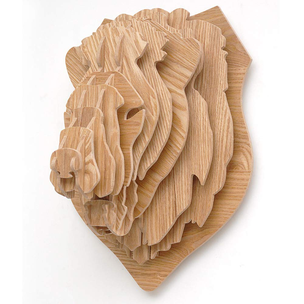 DDSS Home Decoration Wall Decoration - Lion Wall Hangings, Modern Minimalist Wall Decorations, Nordic Logs, Creative Furniture Accessories /-/ (Color : A)