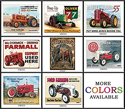 Shop72 - FARMALL, AGCO Corporation Tractors Tin Sign Retro Vintage Distrssed
