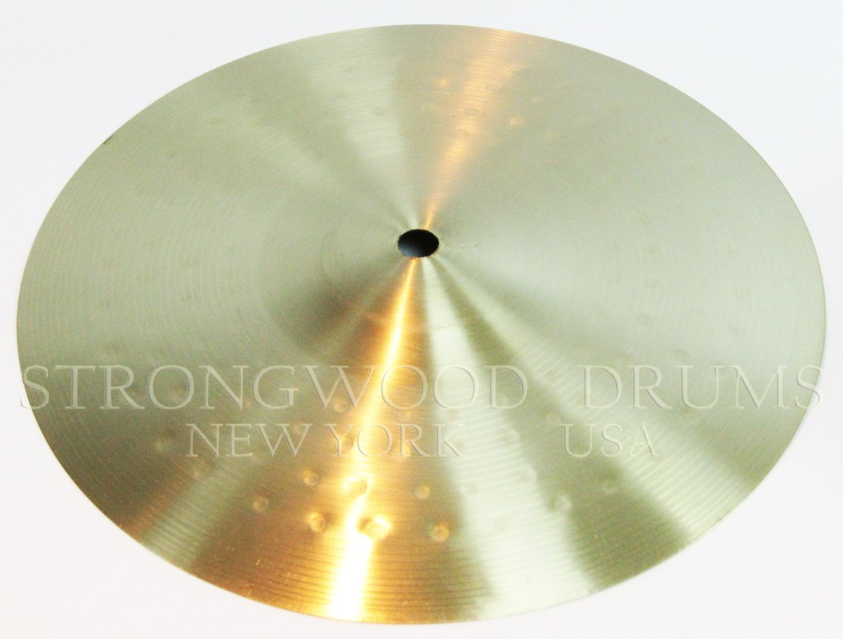 10'' Splash Cymbal Brass Series 0.6mm Hammered, Lathed for Pro Sound NEW
