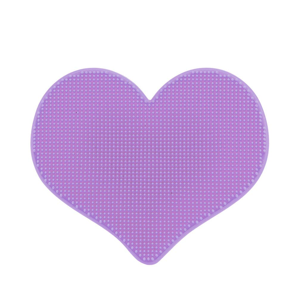 Alelife Cleaning Brush Comfortable Silicone Facial Cleasing Tool for Body Face Head Cleaning Supplies (Purple)