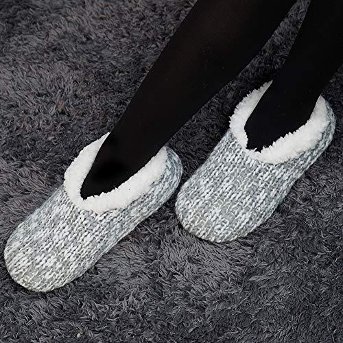 3 Calde Donna Carine Pantofole Scarpe Grigio E Morbide Da Antiscivolo Coccolose Donna Hwq80xPqzF