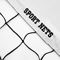 Hit Run Steal Volleyball Net - Official Replacement Tournament Net. Comes Knotted Net 32' x 39 Inches, 2 Fibber Glass End Rods, Heavy Duty Metal Tension Cables and 5 Rope Tie Downs On Each Side.