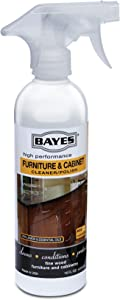 Bayes High-Performance Furniture, Cabinet Cleaner and Polish - Cleans, Conditions, and Preserves Fine Wood Furniture and Cabinetry - 16 oz