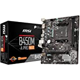 MSI B450M-A PRO MAX Motherboard mATX, AM4, DDR4, LAN, USB 3.2 Gen1, M.2, DVI-D, HDMI, AMD RYZEN 1st, 2nd and 3rd Gen…