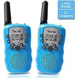 Walkie Talkies for Kids, Techip Kids Walkie Talkies Two-Way Radios with 22 Channels Portable FRS/GMRS Handheld Mini Kids Walkie Talkies Long Range 3.1 Miles (1 Pair )