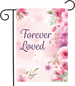 "Briarwood Lane Forever Loved Floral Garden Flag Bereavement 12.5"" x 18"""