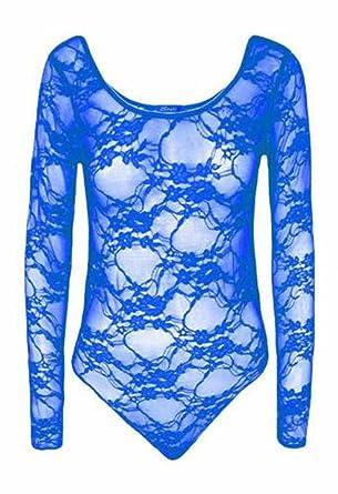 4470c1667d New Womens Ladies Plus Size Mesh Insert Lace Floral Leotard Bodysuit Body  Con Top UK 8