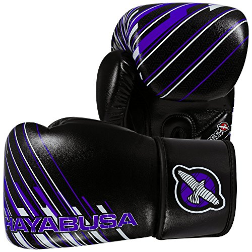 Hayabusa Ikusa Charged Gloves, Black/Purple, 10 oz