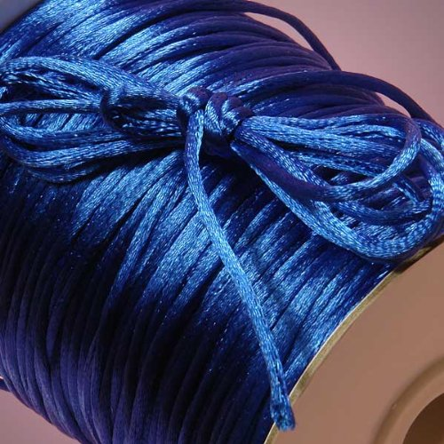 Ben Collection 2mm X 100 Yard Rattail Satin Nylon Trim Cord Chinese Knot (Royal)