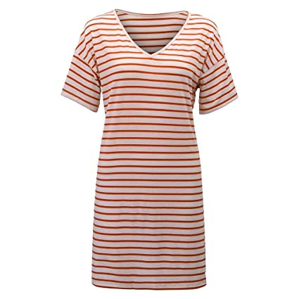 Robe droite courte stripe