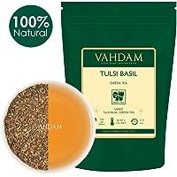 VAHDAM, Tè Verde Indiano Tulsi, 100g (50 tazze) | Miscela Disintossicante Squisita di foglie di thè verde in foglie di basilico fresco | UN POTENTE ANTIOSSIDANTE | Green Tea dall'India