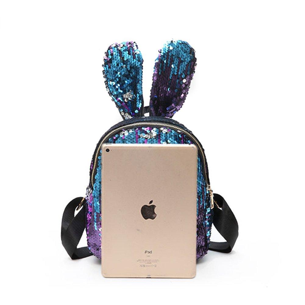 Amazon.com | Aibearty Rabbit Ears Backpack Sequins Rucksack Casual Bag | Casual Daypacks