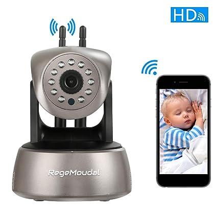 Cámara IP wifi,RegeMoudal 1080P HD Cámara de Vigilancia Inalámbrico Interiorcon Micrófono y Altavoz,