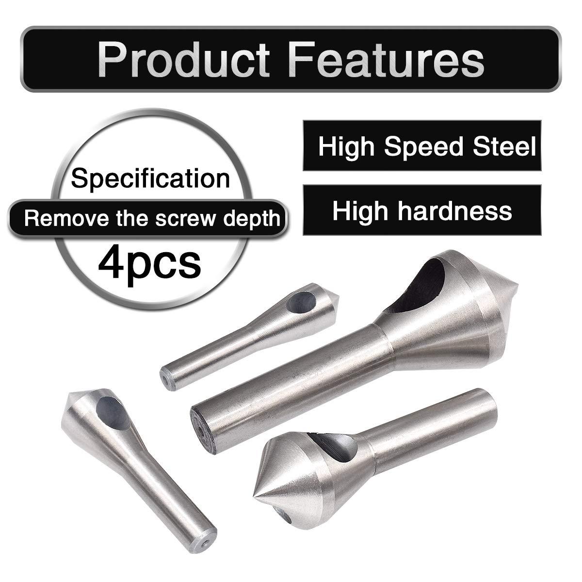 12/mm Bois HSS Fraise conique et outil d/ébavurage de trou Fraise conique d/ébavurage Ensemble de forets Outil /à Main Pour une coupe en m/étal /à travers Bois 8/mm 10/mm HOHXEN 6/mm