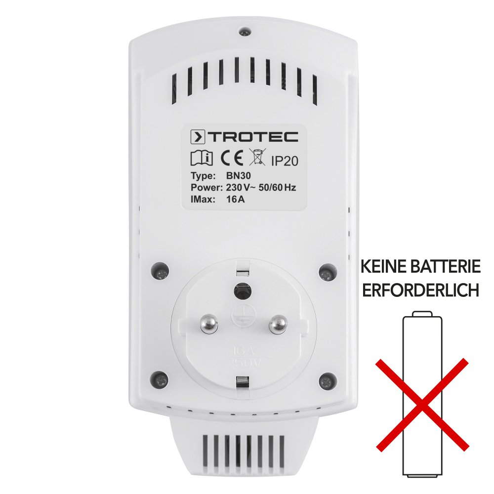 TROTEC TIH 700 S Infrarot-Heizplatte Infrarotheizung 700 Watt inkl PVC Verl/ängerungskabel und Steckdosen-Thermostat BN30