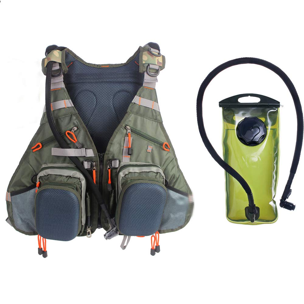 Raprance Fly Fishing Backpack Vest Combo Chest Pack for Tackle Gear with Water Bladder Adjustable Size for Men and Women by Raprance