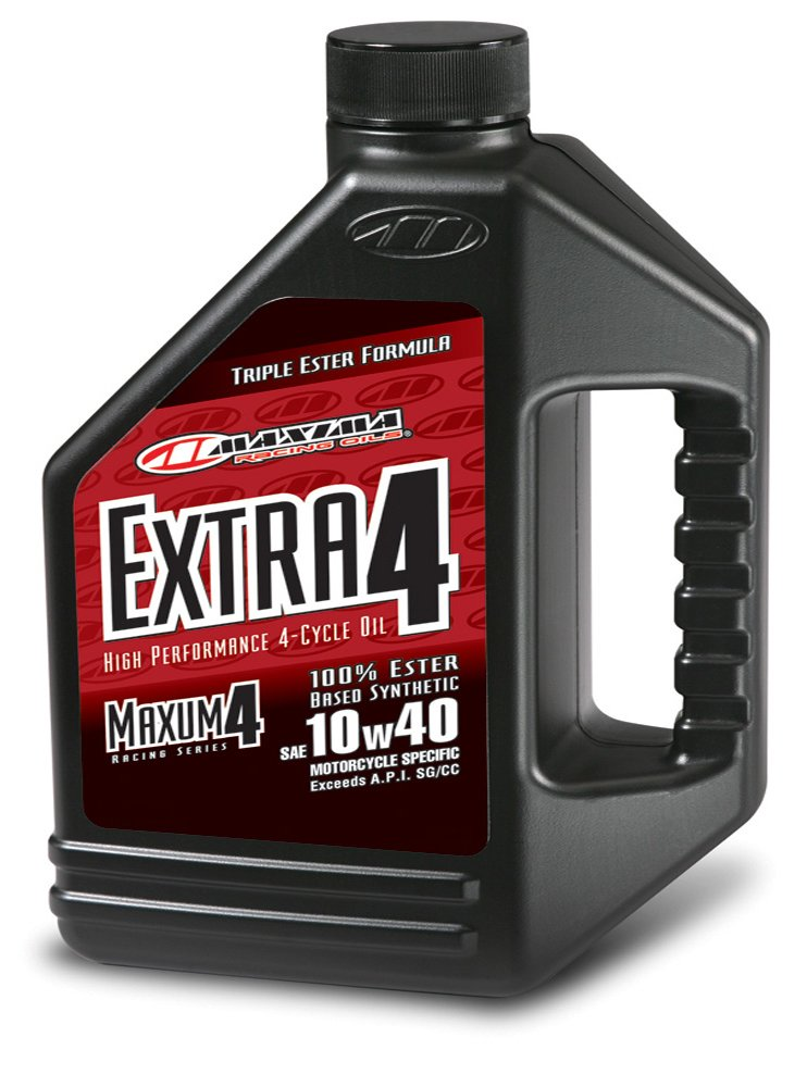 Maxima (169128) Extra4 10W-40 Synthetic 4T Motorcycle Engine Oil - 1 Gallon Jug