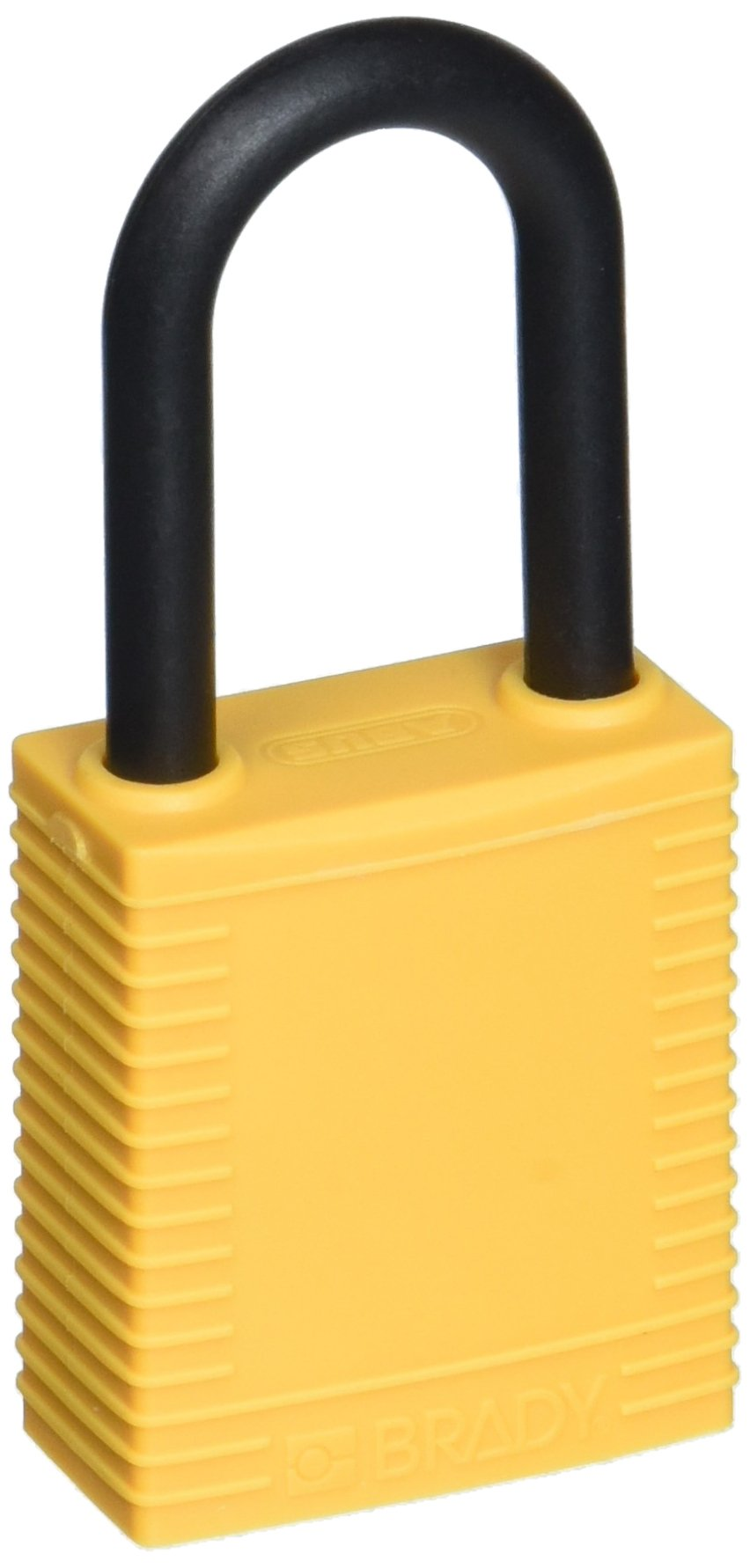 Brady 123345''Danger Locked Out DO NOT Remove'' Padlock, Nylon Plastic, Yellow (Pack of 6)