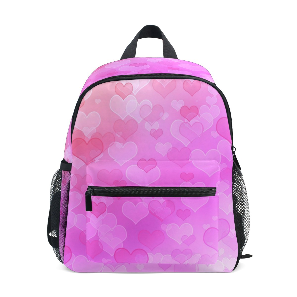 My Daily Kids Backpack Pink Hearts Valentine's Day Wedding Nursery Bags for Preschool Children