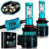 Automotive : Glowteck LED Headlight Bulbs Conversion Kit - 9005(HB3) CREE XHP50 Chip 12000 Lumen/Pair 6K Extremely Bright 68w Cool White 6500K For Bright & Greater Visibility 2 Year Warranty