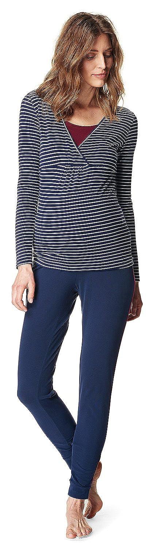 Esprit Nursing Maja Umstandsschlafanzug Stillpyjama Schlafanzug Nachtwäsche Pyjama W1784725-W1784102