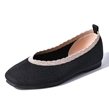 db7e07a15b0 Image Unavailable. Image not available for. Color: LingGT Breathable Ballet Flats  Women Mesh Soft Slip on Shoes ...