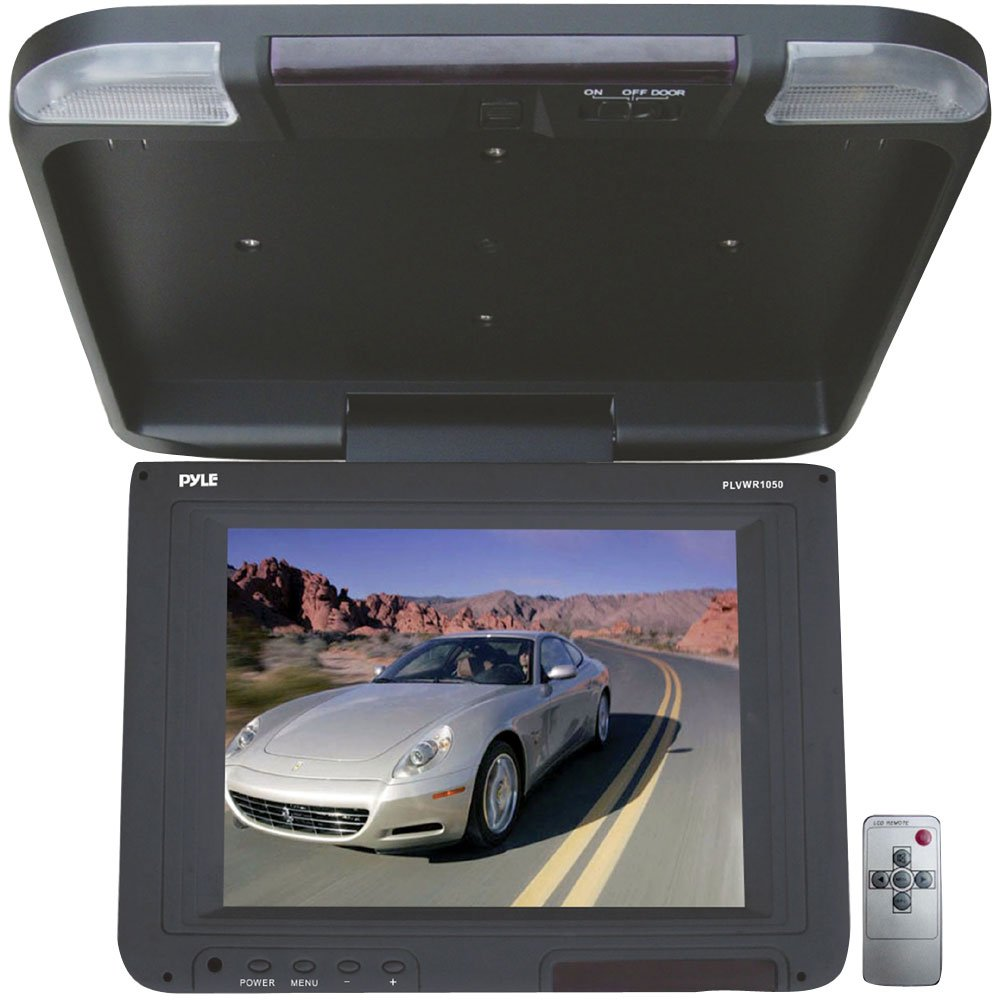 Pyle plvwr1050 10.4-inch flip-down屋根マウントTFT LCDモニター& IR送信機 B004HJ3LQA
