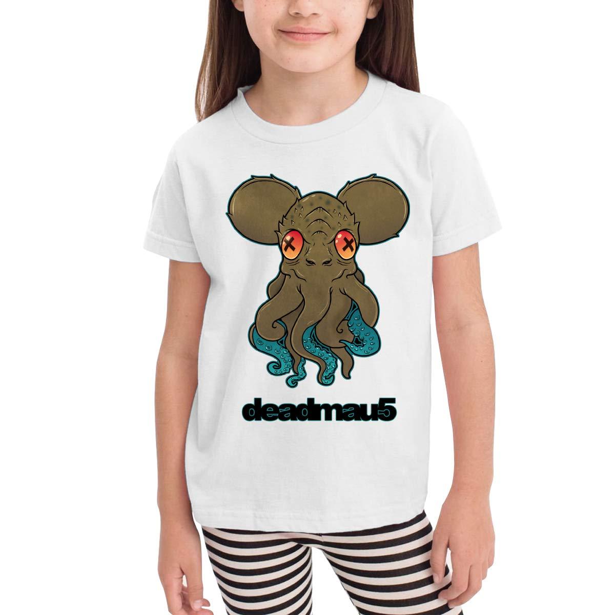 Deadmau5 Unisex Youths Short Sleeve T-Shirt Kids T-Shirt Tops Black
