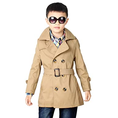 fd4515fde04f Amazon.com  LJYH Big Toddler Boys  Classic Peacoat Hooded Toggle ...