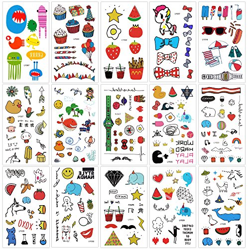 ors tattoo Tattoo great party favor supplies gift toy Animal zoo beach pool hawaiian party favor supplies accessories (Ducks Heart Watch)