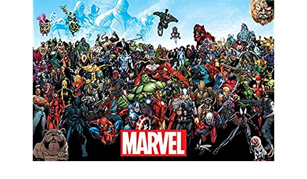 The Avengers Comic Panels Film Movie Poster New Maxi Size 36 x 24 Inch