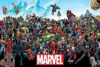 amazon com poster stop online marvel comics universe comic poster