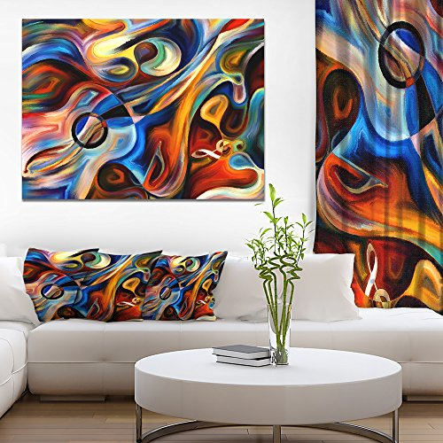 Abstract Music and Rhythm Abstract Canvas Art Print by Design Art