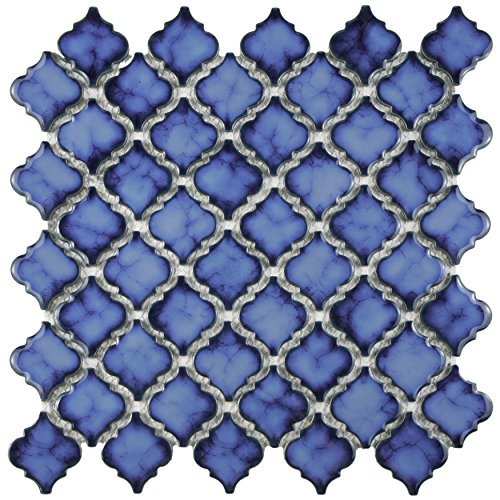 SomerTile FKOLTR24 Tinge Porcelain Floor and Wall Tile, 12.375'' x 12.5'', Sapphire Blue by SOMERTILE