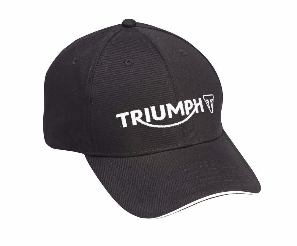 8b0bb0296ef68 Amazon.com  Triumph Motorcycles Logo Cap Hat Black MCAS15308  Everything  Else