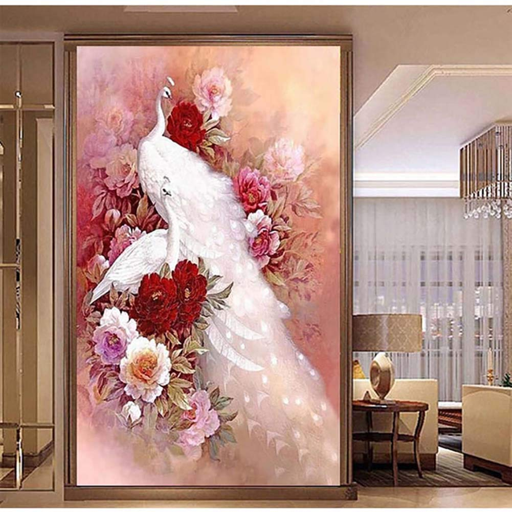 LINLIN DIY Diamond Painting Kit Full Drill 5D Rhinestone Cross Stitch Arts Craft for Canvas Wall Decor Mural (no Frame),90160CM