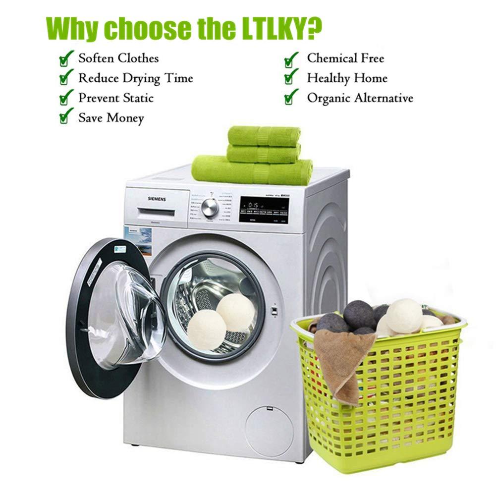 Dryer Balls Laundry Wrinkle Fabric Balls for Dryer Natural Dryer Softener Oil Dryer for Home Gift Set (6 PACK -2.9'') by LTLKY (Image #3)