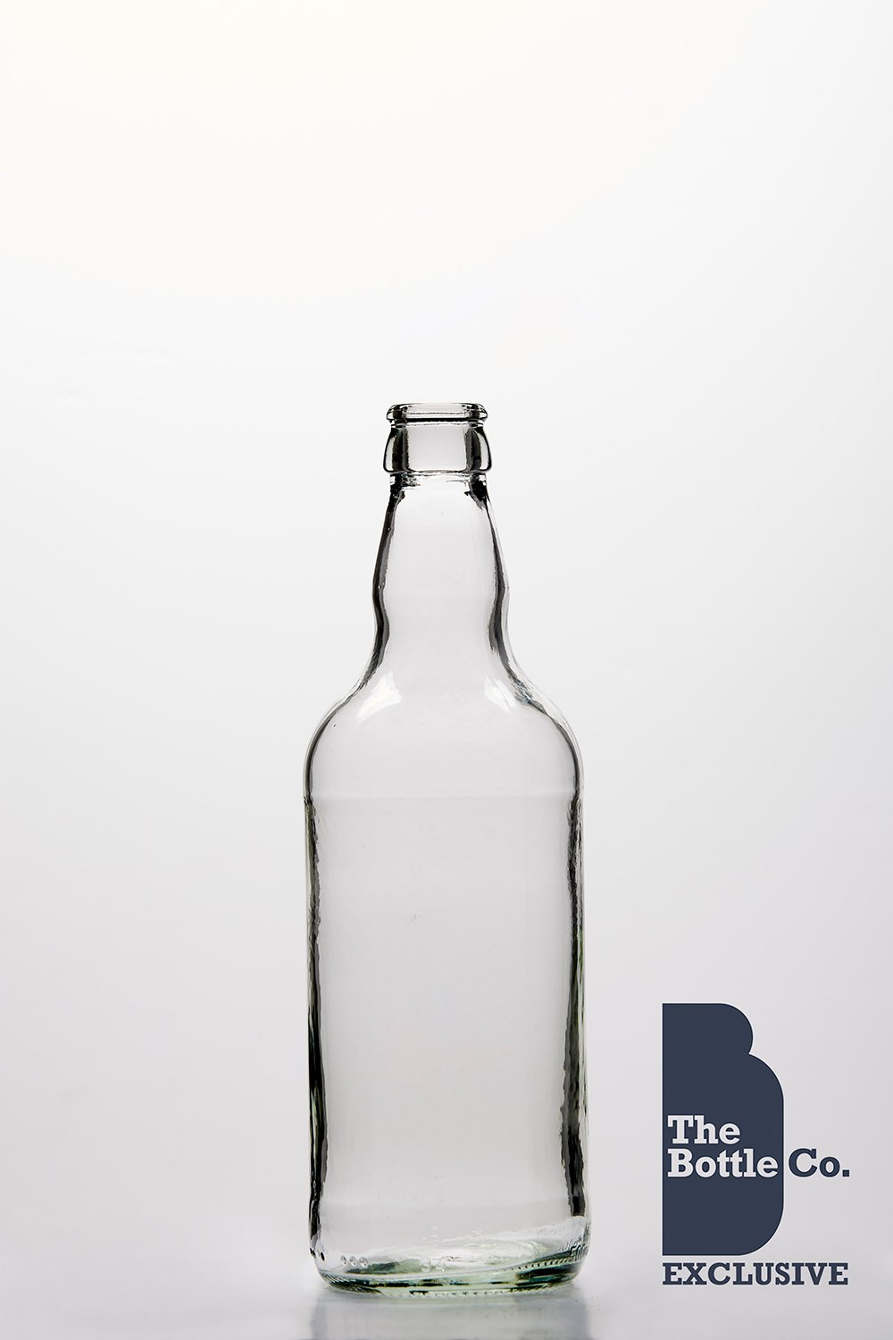 BOTTLE COMPANY 100 X 500ML APPROX ROUND (CLEAR) GLASS CIDER,BEER BOTTLE