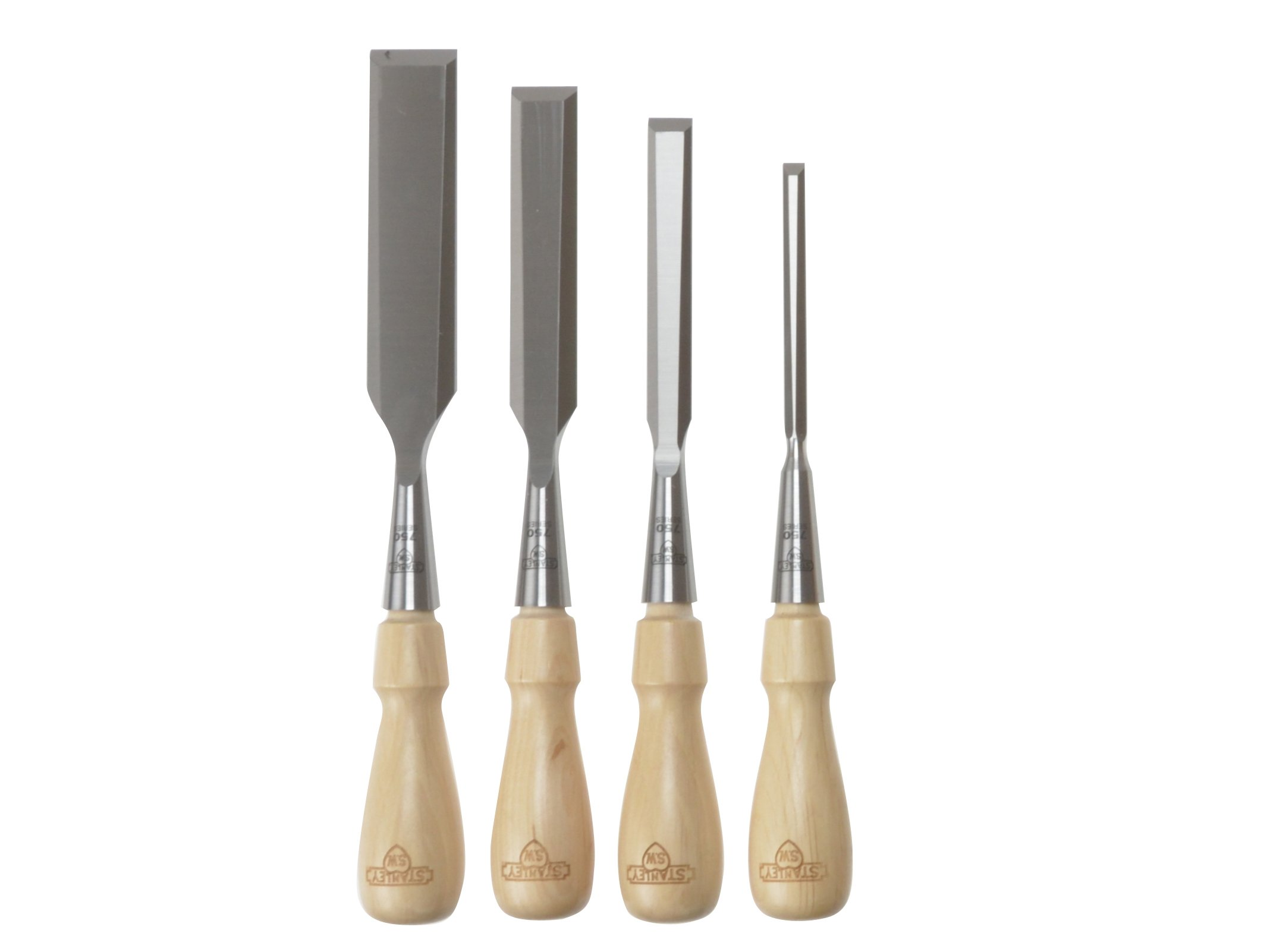 Stanley 1-16-791 Chisel-Set Sweetheart (4-piece), Silver/Tan Brown