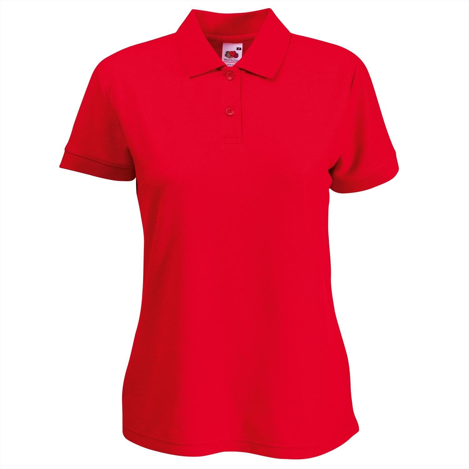 Fruit of the Loom Women's Fit Pique Short Sleeve Polo Shirt