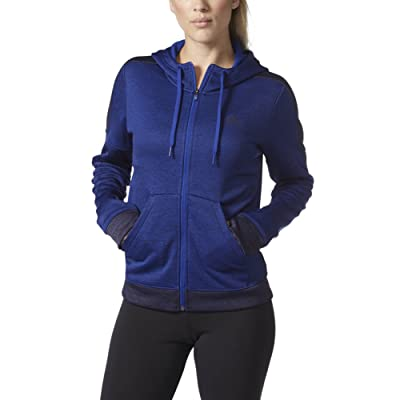 adidas Womens Team Issue Fleece Full Zip Hoodie
