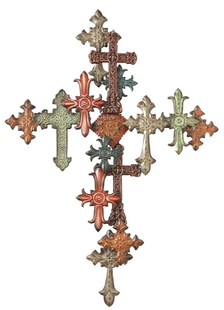 Amazon.com: Midwest CBK Multiple Cross on Cross Wall Décor: Home ...