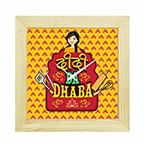 YaYa Cafe 8x8 Inches Rakhi Gifts for Sister Desk Clock Didi