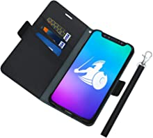 DefenderShield Compatible iPhone 11 Pro EMF Radiation Case - Detachable Magnetic Anti Radiation Shield & RFID Blocker Wallet Case w/Wrist Strap - Cell Phone Radiation Protection