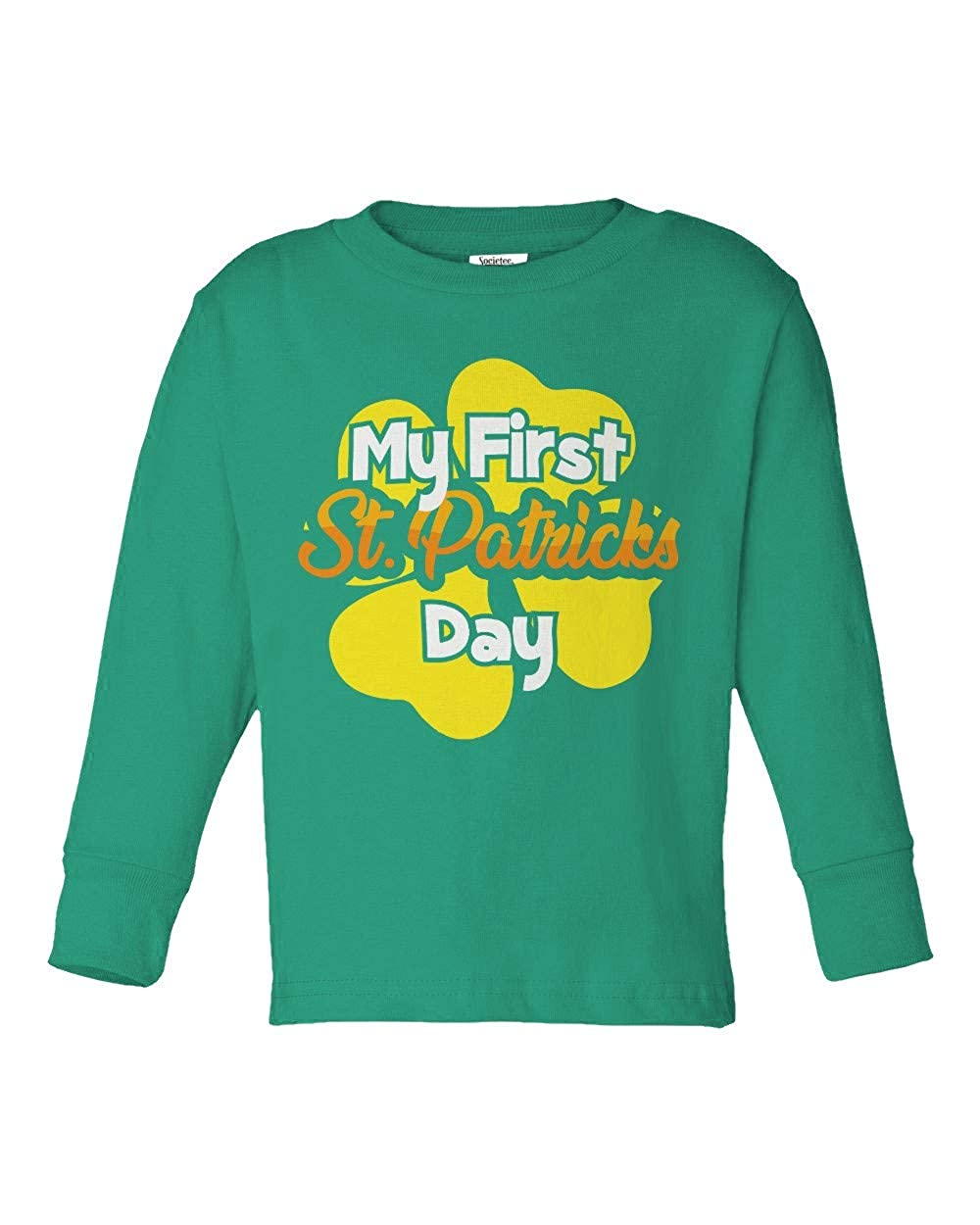 Societee My First St Patricks Day Girls Boys Toddler Long Sleeve T-Shirt