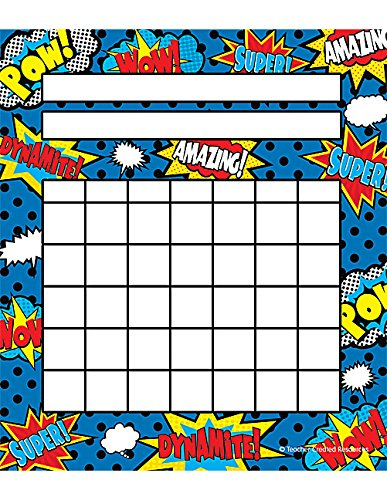 Teacher Created Resources Superhero Incentive Charts Pack - Chart Incentive Homework