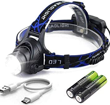 Details about  /Super Bright Headlight Rechargeable 350000LM LED Headlamp Headlight Outdoor USA